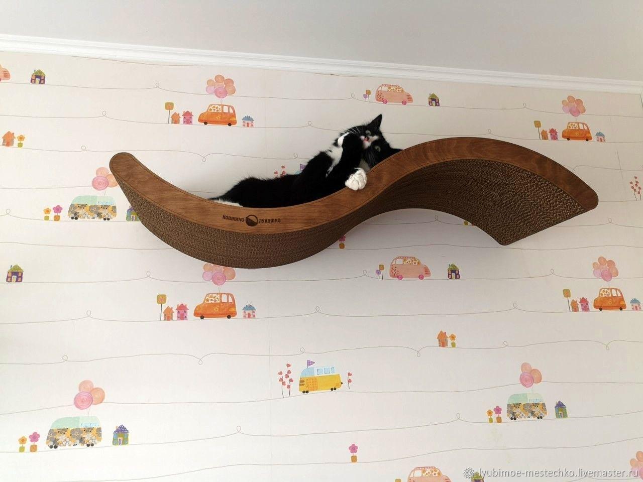 Большая настенная лежанка-полка для кошки, Лежанки, Чебоксары,  Фото №1