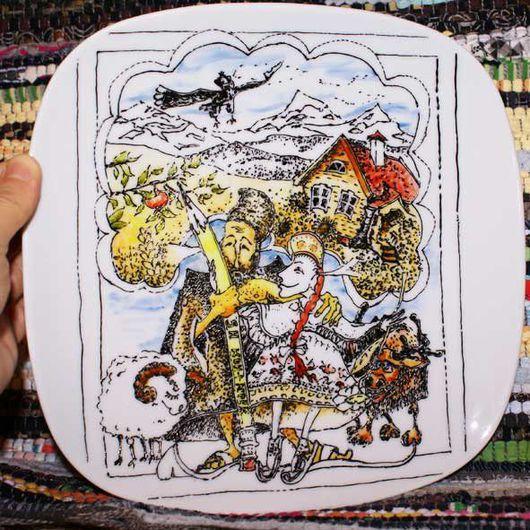 Тарелки ручной работы. Ярмарка Мастеров - ручная работа. Купить Муж и жена. Handmade. Папа, муж, тарелка, дом