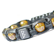 Фен-шуй и эзотерика handmade. Livemaster - original item Bracelet with the rune berkana leather of the tortoise agate. Guardian. Amulet. Handmade.