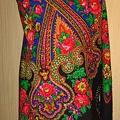 Платок павловопосадский, винтажный, авт. Е.Регунова