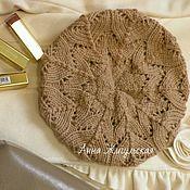 Аксессуары handmade. Livemaster - original item Beret knitting Openwork heat. Handmade.