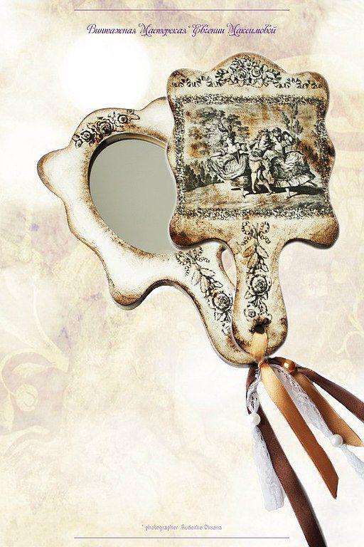 """Зеркала ручной работы. Ярмарка Мастеров - ручная работа. Купить Дамское зеркало ручной работы """"Во Французской стороне..."""". Handmade."""