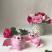 Куклы и игрушки ручной работы. Ярмарка Мастеров - ручная работа Летучая мышь. Бэтси. Bat. Хэллоуин. Handmade.