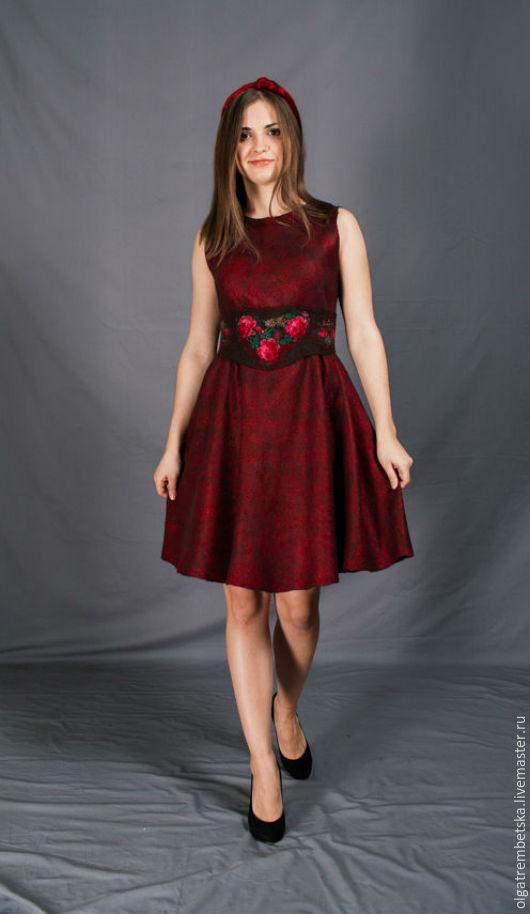 """Платья ручной работы. Ярмарка Мастеров - ручная работа. Купить Платье """"Красное и черное"""". Handmade. Черный, шерсть 100%"""