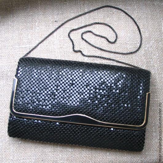 Винтажные сумки и кошельки. Ярмарка Мастеров - ручная работа. Купить Клатч винтажный. Handmade. Черный, сумочка, сумочка-клатч