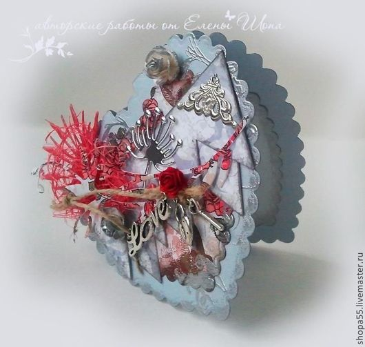 Валентинки ручной работы. Ярмарка Мастеров - ручная работа. Купить Открытка на день святого Валентина. Handmade. Ярко-красный