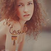 """Украшения ручной работы. Ярмарка Мастеров - ручная работа Колье из бисера в индейском стиле """"golden wind"""". Handmade."""