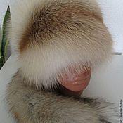 Аксессуары ручной работы. Ярмарка Мастеров - ручная работа Шапка из меха рыжей лисы с хвостом.. Handmade.