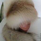 Аксессуары handmade. Livemaster - original item Hat fur red Fox tail.. Handmade.