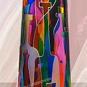 Посуда ручной работы. Ярмарка Мастеров - ручная работа Бутылка матовая Дом Фауста, витражная роспись. Handmade.