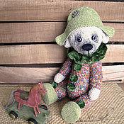 Куклы и игрушки ручной работы. Ярмарка Мастеров - ручная работа Медведь Арлекин красный. Handmade.