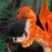 Куклы и игрушки ручной работы. Ярмарка Мастеров - ручная работа Коллекционная игрушка Лис Дракон Локи огненный рыжий. Handmade.