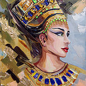 Картины и панно handmade. Livemaster - original item Oil painting of Nefertiti. Handmade.
