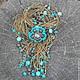 Колье, бусы ручной работы. Ярмарка Мастеров - ручная работа. Купить Колье Sunny turquoise (Солнечная бирюза). Handmade. Бирюзовый