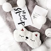"""Одежда ручной работы. Ярмарка Мастеров - ручная работа Маска для сна """"Кошка"""" из искусственного меха. Handmade."""