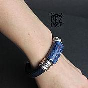 Украшения handmade. Livemaster - original item Regaliz leather bracelet