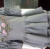Работы для детей, ручной работы. Ярмарка Мастеров - ручная работа Платье для девочки - вышивка лентами. Handmade.