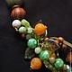 Ожерелье `Апельсиновый сад`