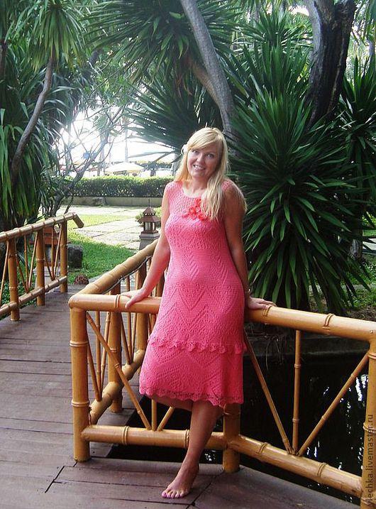 Платья ручной работы. Ярмарка Мастеров - ручная работа. Купить Тропический рай. Handmade. Платье, коралловый, платье летнее