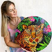 Картины и панно handmade. Livemaster - original item Round picture on the wall