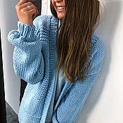 Одежда handmade. Livemaster - original item Blue cardigan for women. Handmade.