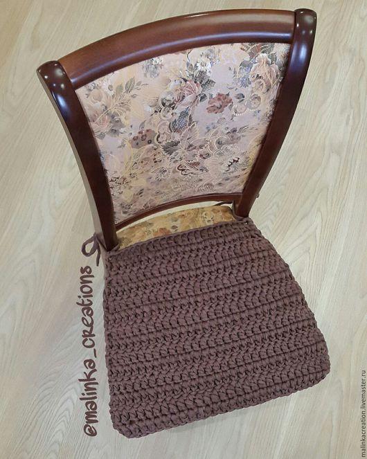 Вязаный чехол на стул Strips от Malinka_Creations