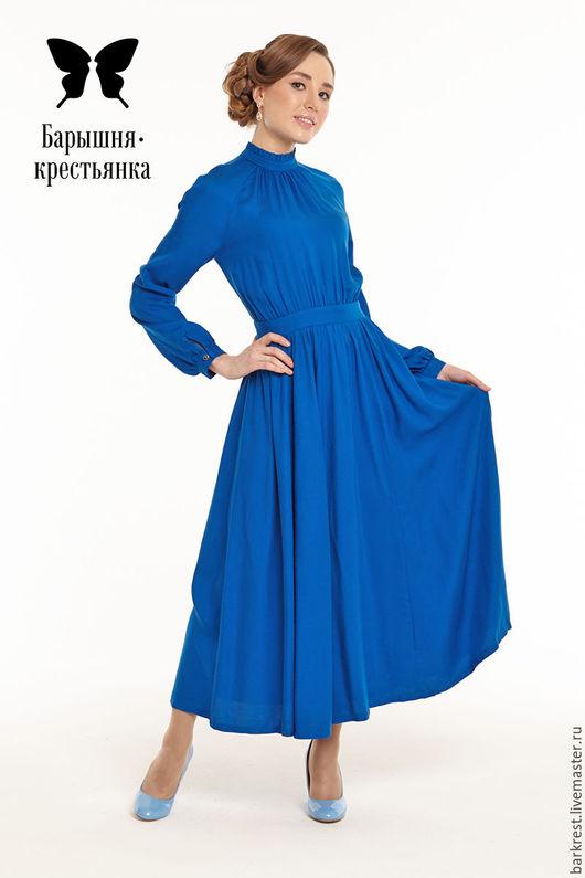 Платья ручной работы. Ярмарка Мастеров - ручная работа. Купить Либретто. Handmade. Синий, православная мода, нарядное платье