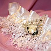 Свадебный салон ручной работы. Ярмарка Мастеров - ручная работа Подвязка свадебная  (арт. 0011). Handmade.