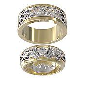 Свадебный салон handmade. Livemaster - original item Gold Wedding rings Renaissance diamonds. Handmade.