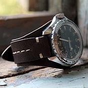 Watch Straps handmade. Livemaster - original item strap watch genuine leather. Handmade.