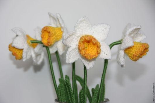 Цветы ручной работы. Ярмарка Мастеров - ручная работа. Купить Нарциссы вязаные. Handmade. Желтый, подарок, нарцисс ручной работы
