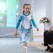 """Работы для детей, ручной работы. Ярмарка Мастеров - ручная работа Летнее платье для девочки Каприз, коллекция """"Морской бриз"""". Handmade."""