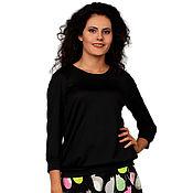 Одежда ручной работы. Ярмарка Мастеров - ручная работа Комбинированное трикотажное платье с юбочкой - полусолнце, 2 принта. Handmade.