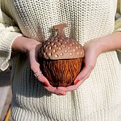 Посуда handmade. Livemaster - original item Handmade sugar bowl Acorn box. Handmade.
