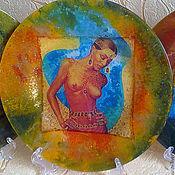 Для дома и интерьера handmade. Livemaster - original item plates african passion. Handmade.