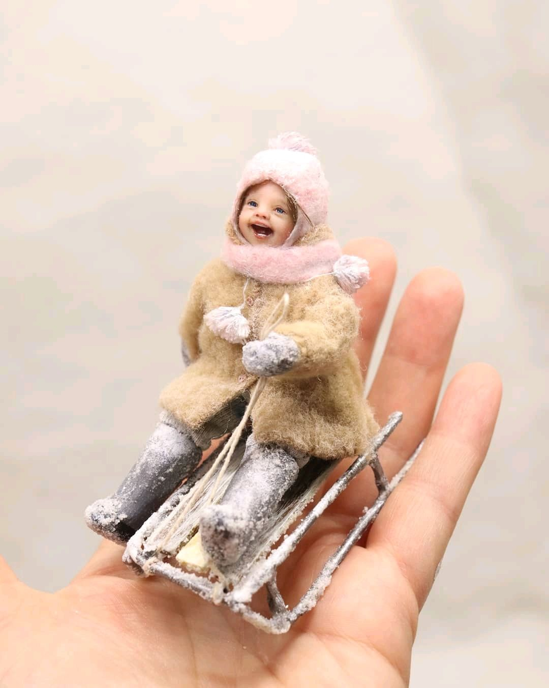 Кукла миниатюра дети 8,5 см, Интерьерная кукла, Подольск,  Фото №1