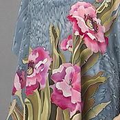 Одежда handmade. Livemaster - original item SCARLET Poppies  tunic made of natural silk. Handmade.