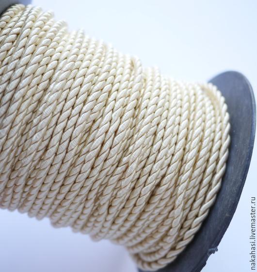 Другие виды рукоделия ручной работы. Ярмарка Мастеров - ручная работа. Купить Витой шнур, бежевый, 10м х 2,5мм, арт. 2398245. Handmade.