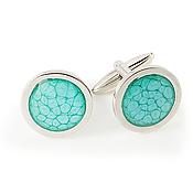 Украшения handmade. Livemaster - original item Men`s turquoise cufflinks fashion & style