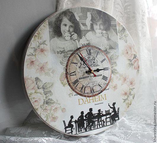 """Часы для дома ручной работы. Ярмарка Мастеров - ручная работа. Купить Часы настенные """"Милый дом"""". Handmade. Кремовый, мдф"""