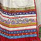 """Рубаха с фартуком """"Варя"""", лен. Народные платья. ИРА+7968 260 30 99 WatsApp,Viber,тел. Ярмарка Мастеров.  Фото №6"""