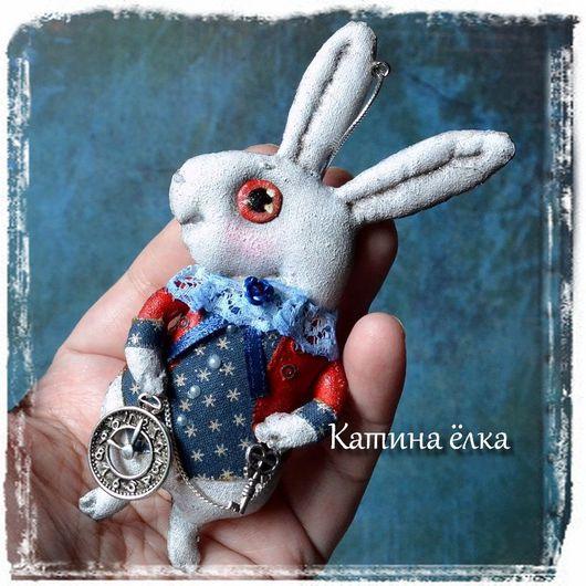 Новый год 2017 ручной работы. Ярмарка Мастеров - ручная работа. Купить Белый кролик в синем. Handmade. Авторская ручная работа