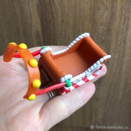 Саночки - кукольная миниатюра, Аксессуары для кукол и игрушек, Краснодар,  Фото №1