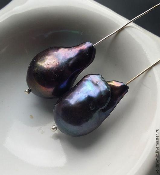 Для украшений ручной работы. Ярмарка Мастеров - ручная работа. Купить пара сине-фиолетовых касуми. Handmade. Синий