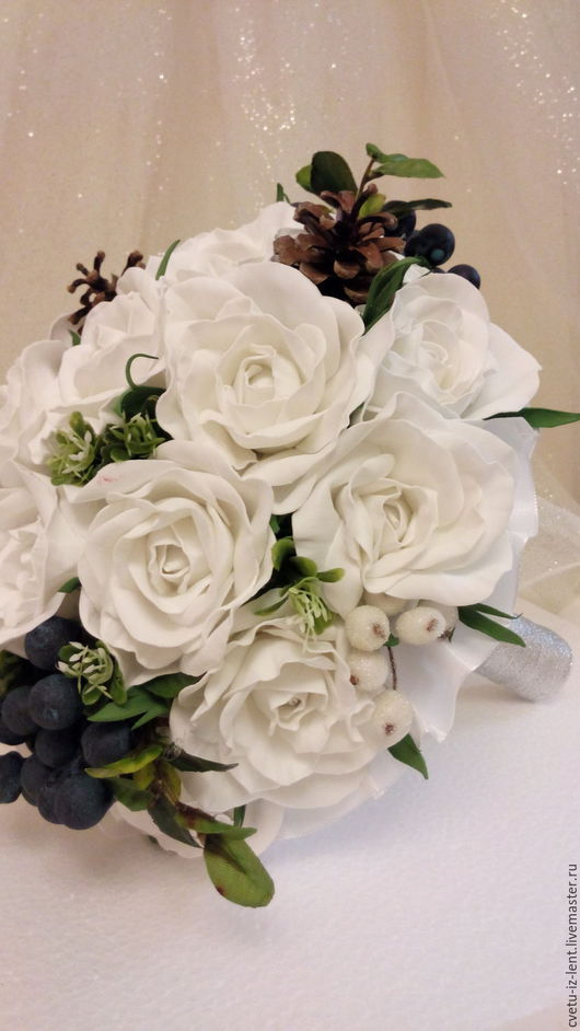 Свадебные цветы ручной работы. Ярмарка Мастеров - ручная работа. Купить Свадебный букет-дублер. Handmade. Белый, свадебный аксессуар