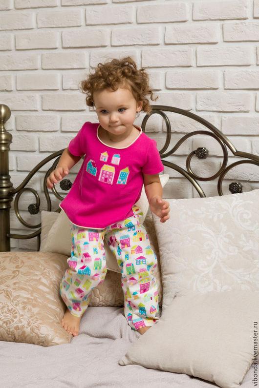 """Белье ручной работы. Ярмарка Мастеров - ручная работа. Купить Пижама """"Kids street"""". Handmade. Фуксия, пижама, пижама для девочки"""