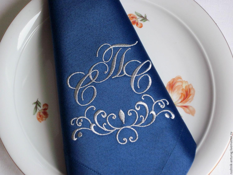 Свадебная вышивка на скатерти
