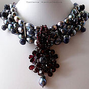 Украшения handmade. Livemaster - original item Necklace-choker ROCOCO, Baroque pearls, natural stones.. Handmade.