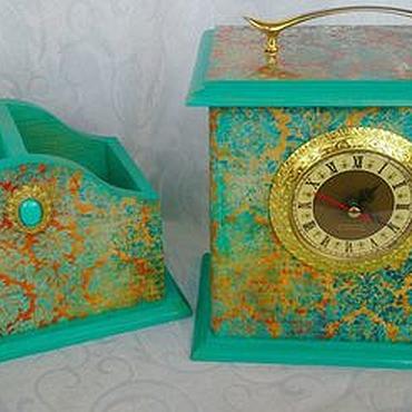 Для дома и интерьера ручной работы. Ярмарка Мастеров - ручная работа Набор Часы и органайзер. Handmade.