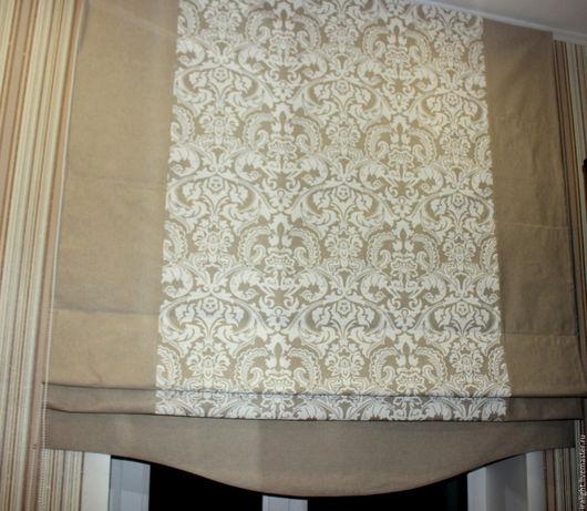 Римские шторы. Шторы в спальню. Индивидуальный дизайн. Пошив штор на заказ. Шторы. Натуральные материалы.